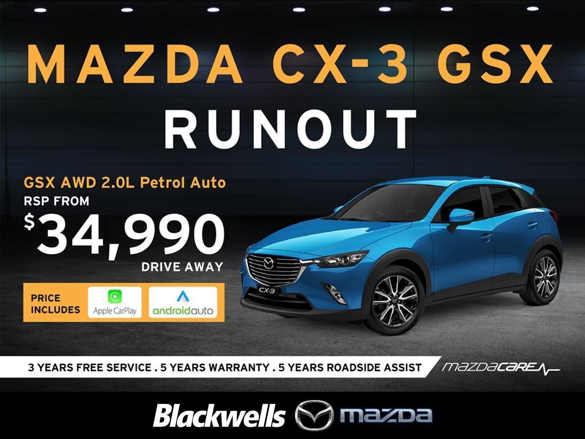 Mazda Cx 3 Gsx Fwd 2 0 Auto 2018 Blackwells New Used